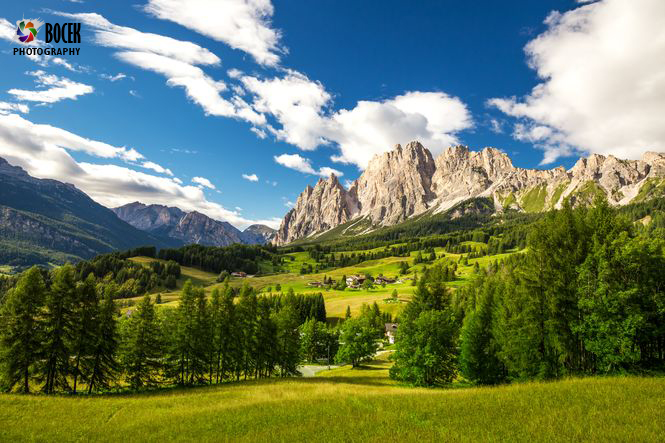 View to Dolomites mountains, Italy, Europe