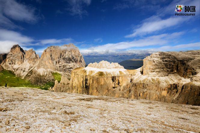 View from Sass Pordoi, Dolomiten, Italia, Europe